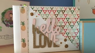 mini album scrapbooking - tutorial album de verano