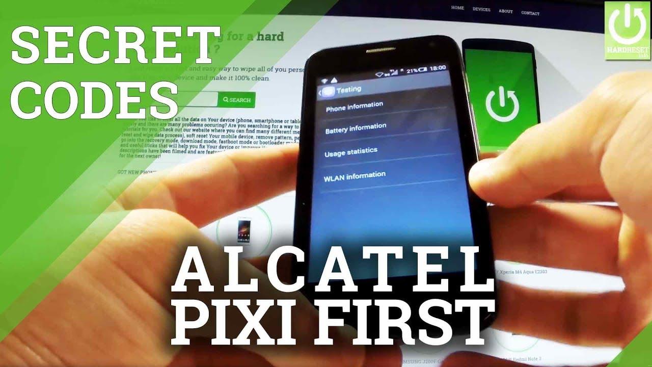 Secret Codes ALCATEL One Touch Pixi First 4024D - Hidden Menu / Tricks