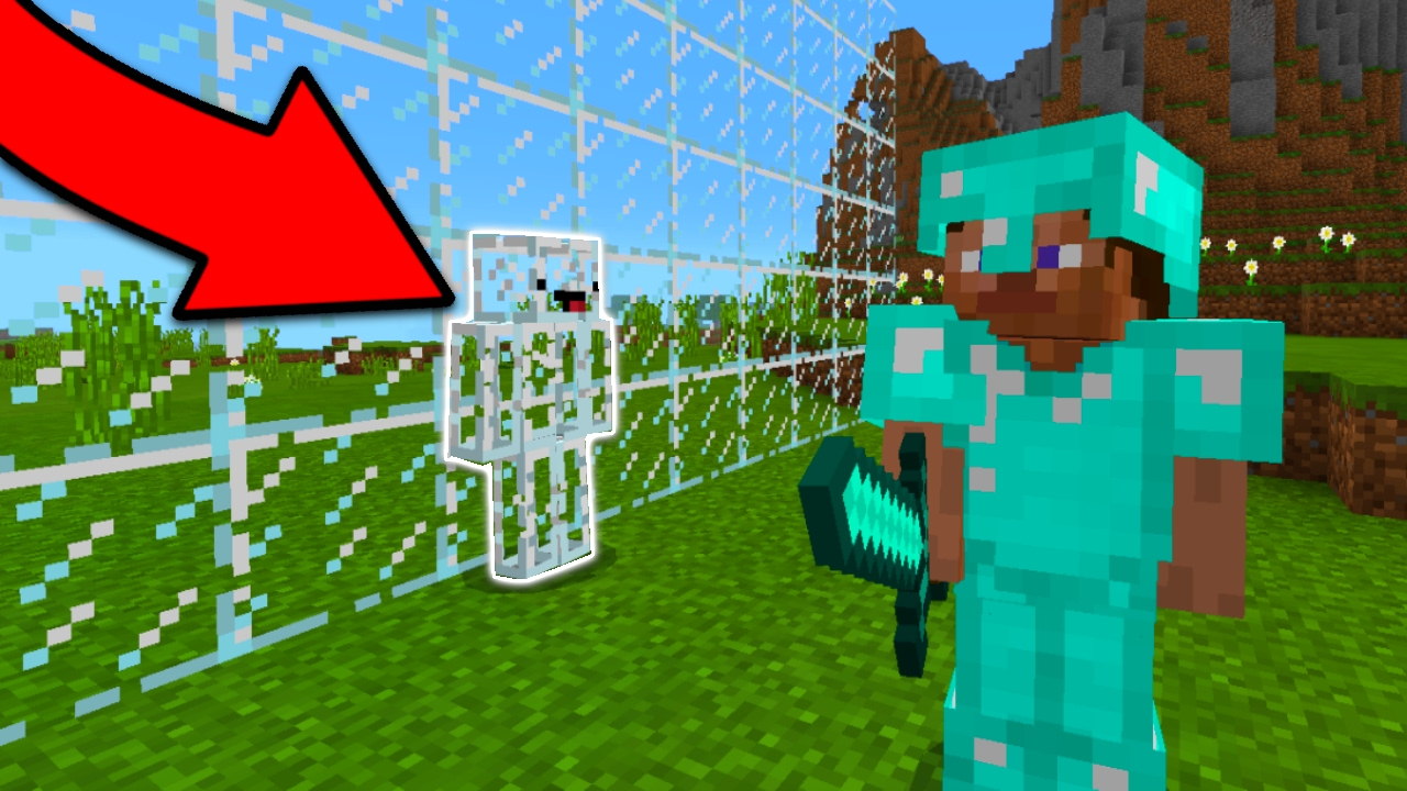 THE PERFECT INVISIBLE CAMO SKIN In Minecraft Pocket Edition Skywars - Camo skins fur minecraft