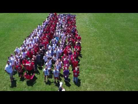 Seneca ELementary Students during Flag Day - Create a Seneca School Star