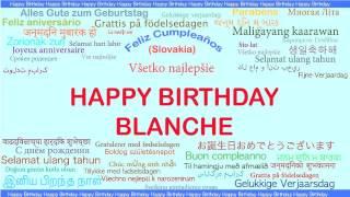 Blanche   Languages Idiomas - Happy Birthday