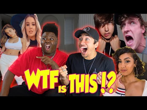 REACTING TO YOUTUBER'S SONGS FOR THE FIRST TIME! (FUNNY AF)
