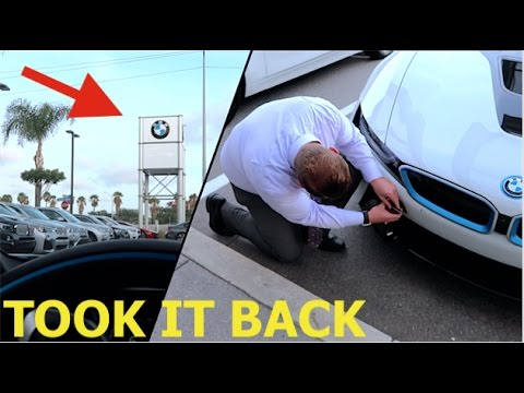 TAKING MY NEW BMW i8 BACK!! (What did they say)