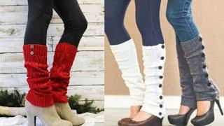Latest and Gorgeous Women crochet Leg warmers Designs 2020 - 2021