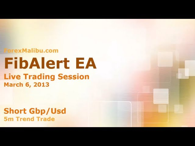 FibAlert EA – Short Gbp/Usd  – 5m Trend Trade – Forex Day Trading Software – 3/6/2013