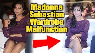Premam Actress Madonna Sebastian Oops Moment | Wardrobe Malfunction in Audio Launch