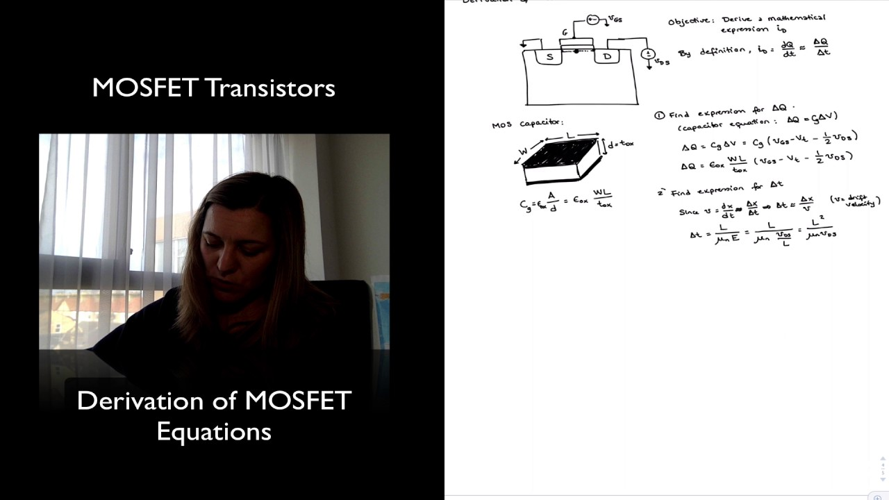 Mosfet Transistor Derivation Of Equations Youtube How To Protect Devices