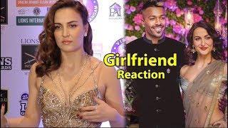 Hardik pandyas girlfriend elli avram Reaction on Hardik latest News