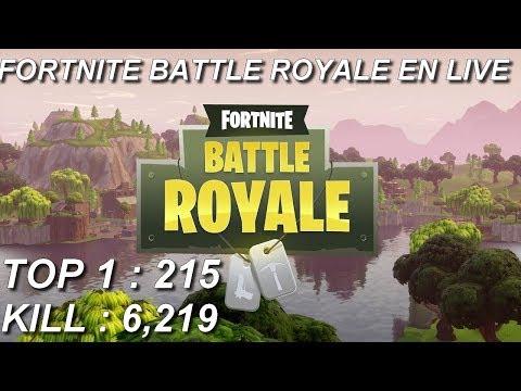 [FR/PC/LIVE] Fortnite  en solo 215 wins!
