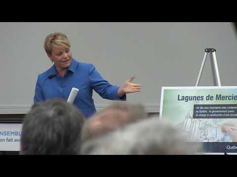 Conférence de presse - Lagunes de Mercier - 19 mars 2018