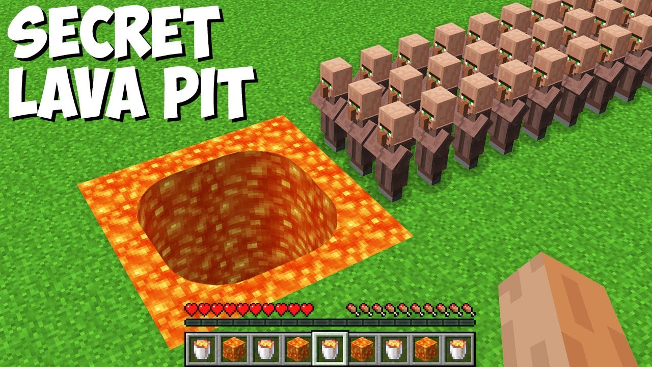 Where does LEAD A LAVA PIT THIS VILLAGERS in Minecraft ? STRANGEST PASSAGE !