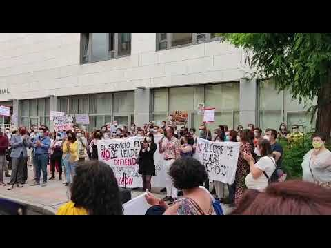 Protesta de los trabajadores del centro El Alba