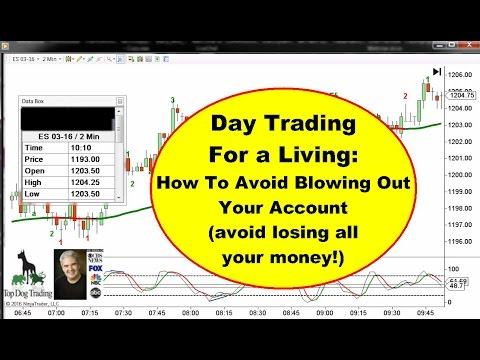 Day Trading For A Living - How To Avoid Losing All Your Money
