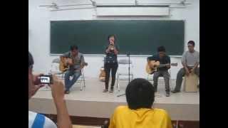 CLB Guitar ĐHXD - Giọt sương trên mí mắt 20/09/2011