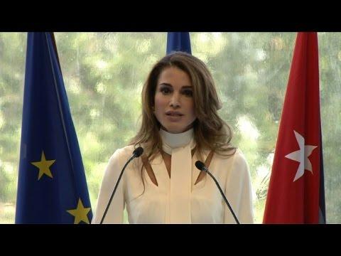 Queen Rania of Jordan opens Medef summer university