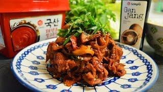 Korean Spicy Pork Recipe : Korean Food : Pork Bulgogi : Simple & Easy Cooking In Minimalist Kitchen