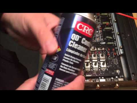 How to clean car amplifier gain pots and switches