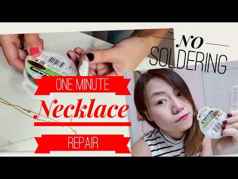 How To Repair Broken Gold Necklace Yourself // Quick And Easy Jewelry Fix