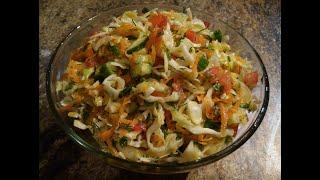 Салат из Свежей Капусты. Потрясающе Вкусный Салат