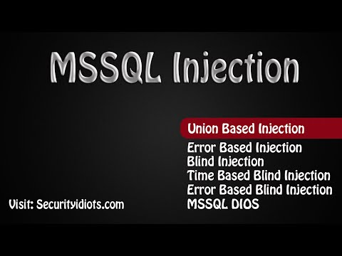 MSSQL Union Based Injection