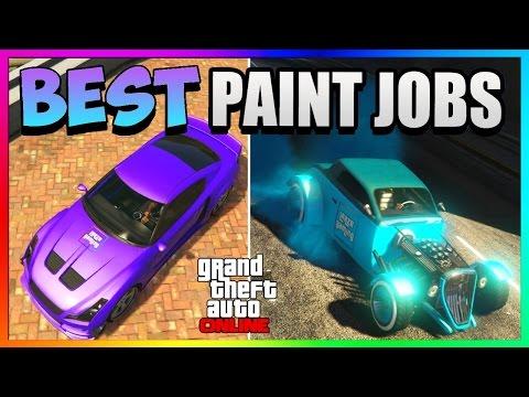 GTA 5 Online - Best RARE Paint Jobs! - Purple Passion & NEON Blue! (GTA 5 Paint Jobs 1.37)