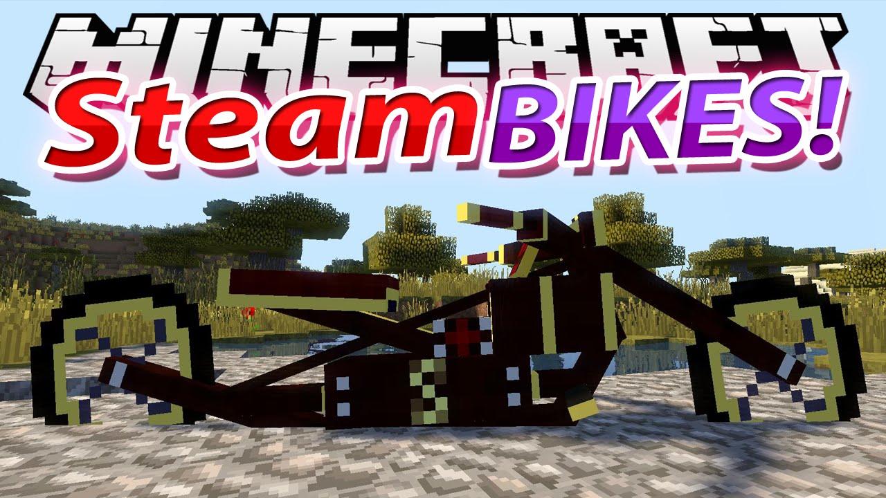 The Dirtbike мод на мотоциклы для Майнкрафт 1.7.10