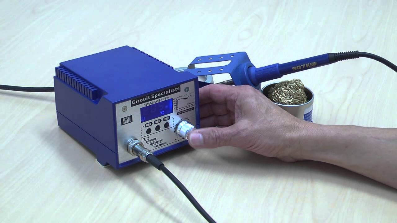 75W Soldering Iron CSI PREMIER75W Digital Temperature Controlled Solder Station