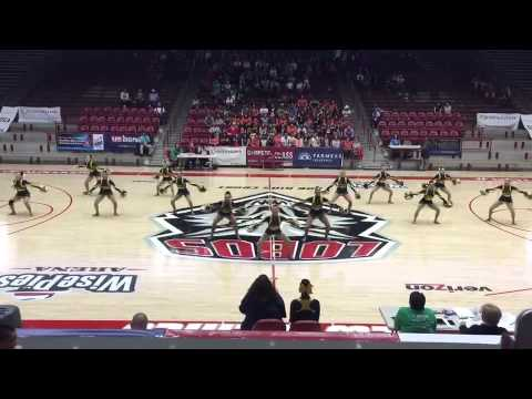 Atrisco Heritage Academy High School's Jaguar Gold Dance Team - NM State Championships 2015 Day 1