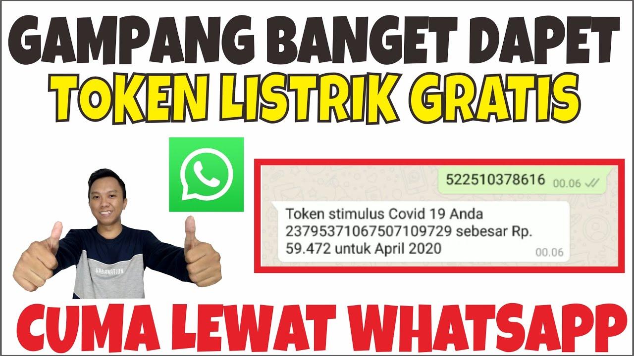 CARA DAPAT TOKEN LISTRIK GRATIS LEWAT WHATSAPP - YouTube