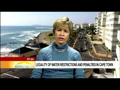 Legality of water restrictions and penalties in Cape Town