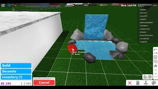 How to build a 3k Roblox Bloxburg Waterfall!