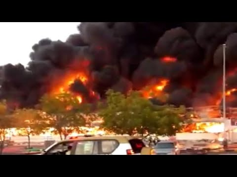 UAE MASSIVE FIRE IN AJMAN, UNITED ARAB EMIRATES (August 05, 2020)
