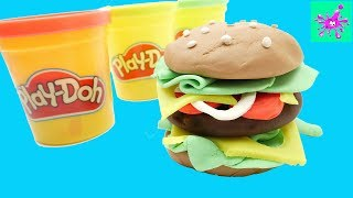 Play Doh Hamburger | Learn Colors | Learn Colors Play Doh for Kids