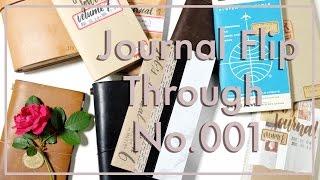 Journal Flip Through No. 001 | Midori Traveler's Notebook