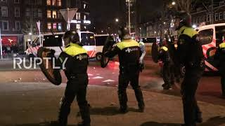 Netherlands: Protesters clash with police in Rotterdam in another night of riots over curfew