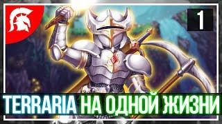 Хардкорная Terraria прохождение игры на одной жизни. Начало в Рождество! #1
