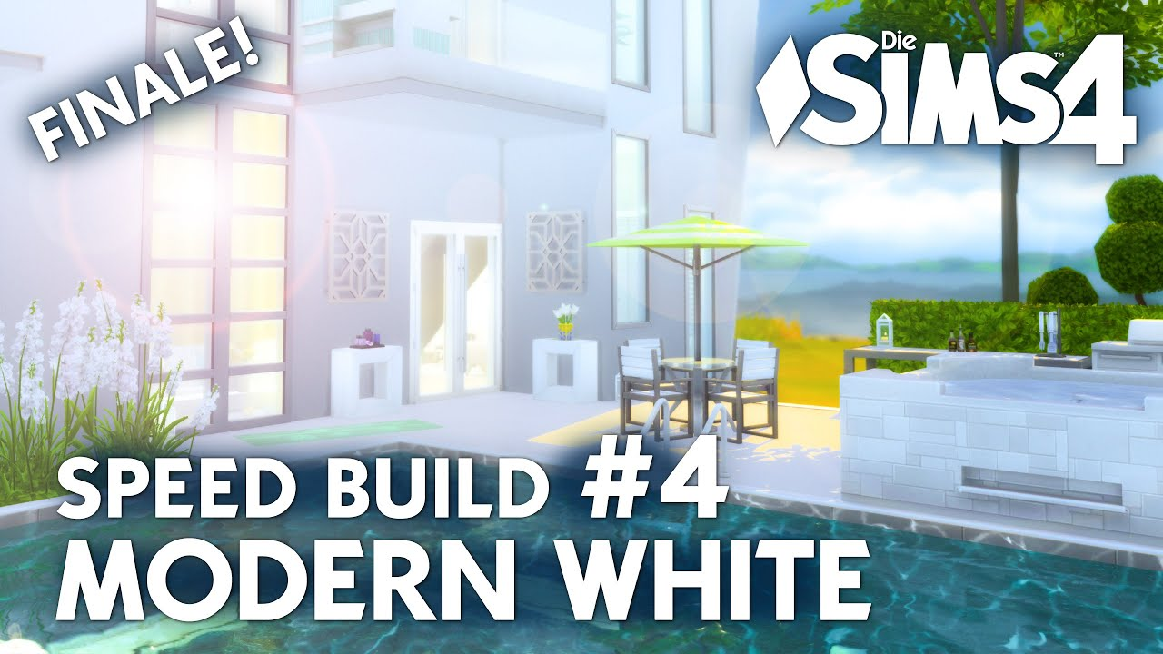 Pool Bauen Sims 4 Haus Bauen Die Sims 4 Modern White Speed Build 4 Mit