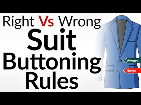 Right Way To Button Your Suit? | Suit Buttoning Rules For Men | Single & Double Breasted Jackets