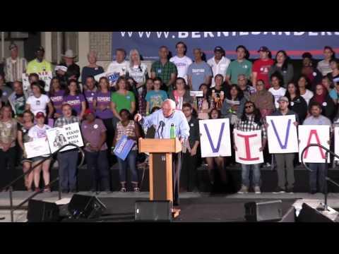 Bernie Sanders in Tucson: Unemployment, Jobs, & Discrimination