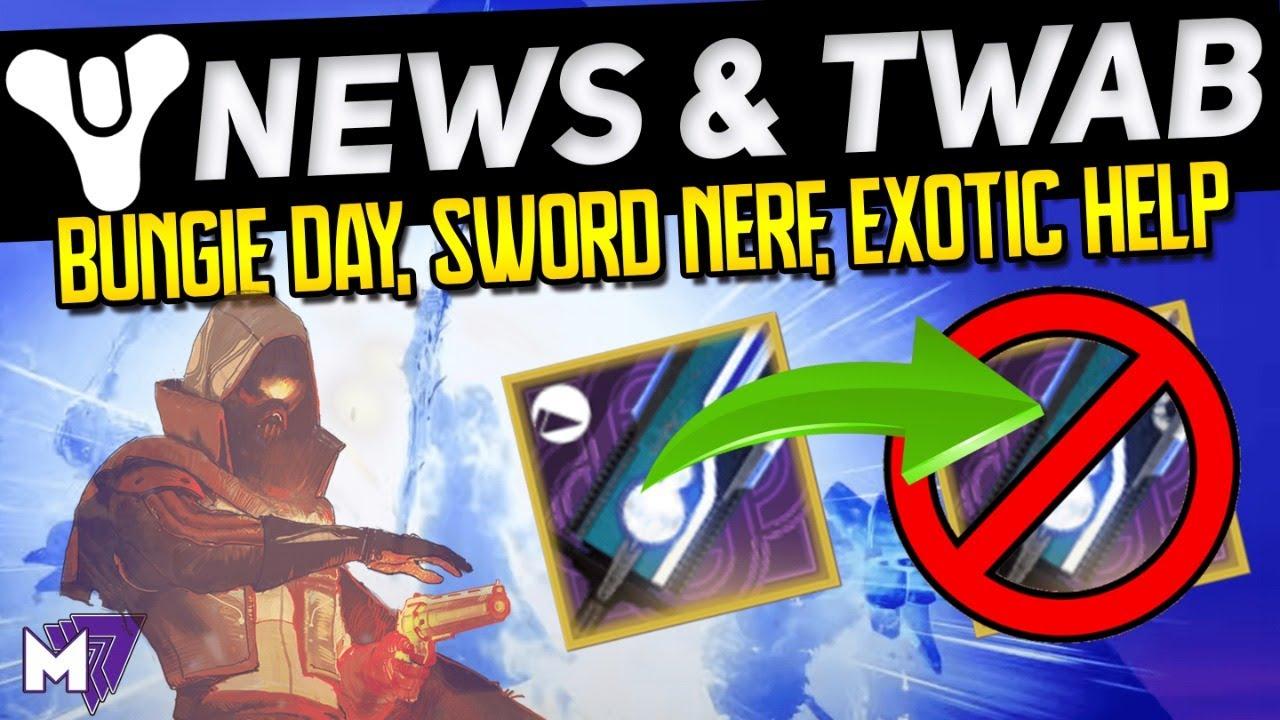 Viewer Helps & Destiny NEWS!  Sword Nerf, New Emblem, Bungie Day, Podcast! !twitch  |  July 2 2020