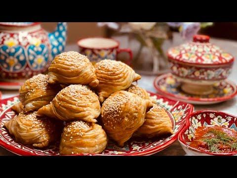 Uzbek Crispy Samsa/ Qisirlagan Varaqali Uzbek Somsa.