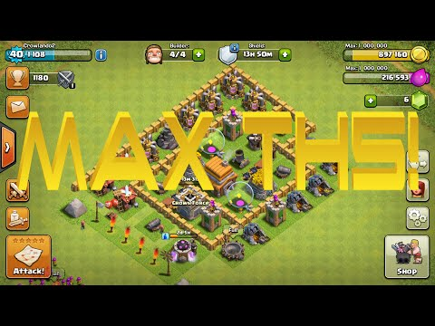 Clash Of Clans | MAX TOWN HALL 5 BASE!