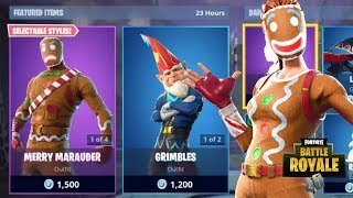 NEW GRIMBLES SKIN + COLD SNAP PICKAXE FORTNITE ITEM SHOP UPDATE (Fortnite Battle Royale)