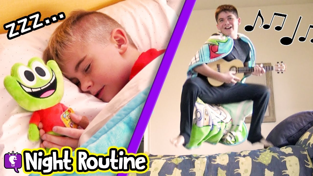NIGHT TIME ROUTINE: Bro VS Bro VS Bro with HobbyKids New Blanket!