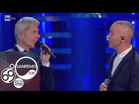 Sanremo 2019 - Eros Ramazzotti e Claudio Baglioni cantano 'Adesso tu'