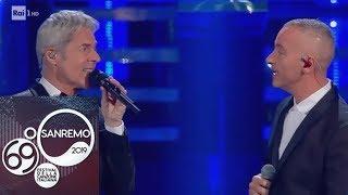 Sanremo 2019   Eros Ramazzotti e Claudio Baglioni cantano Adesso tu