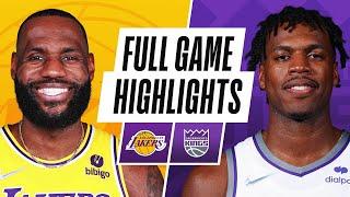 LAKERS at KINGS   NBA PRESEASON FULL GAME HIGHLIGHTS   October 14, 2021