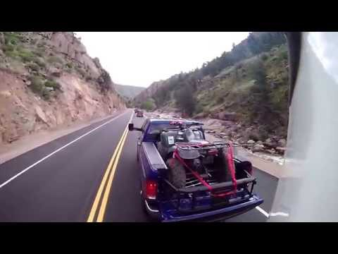 MrTruck reviews Ram 2014 HD Hemi 6.4L towing trailers in the Rockies