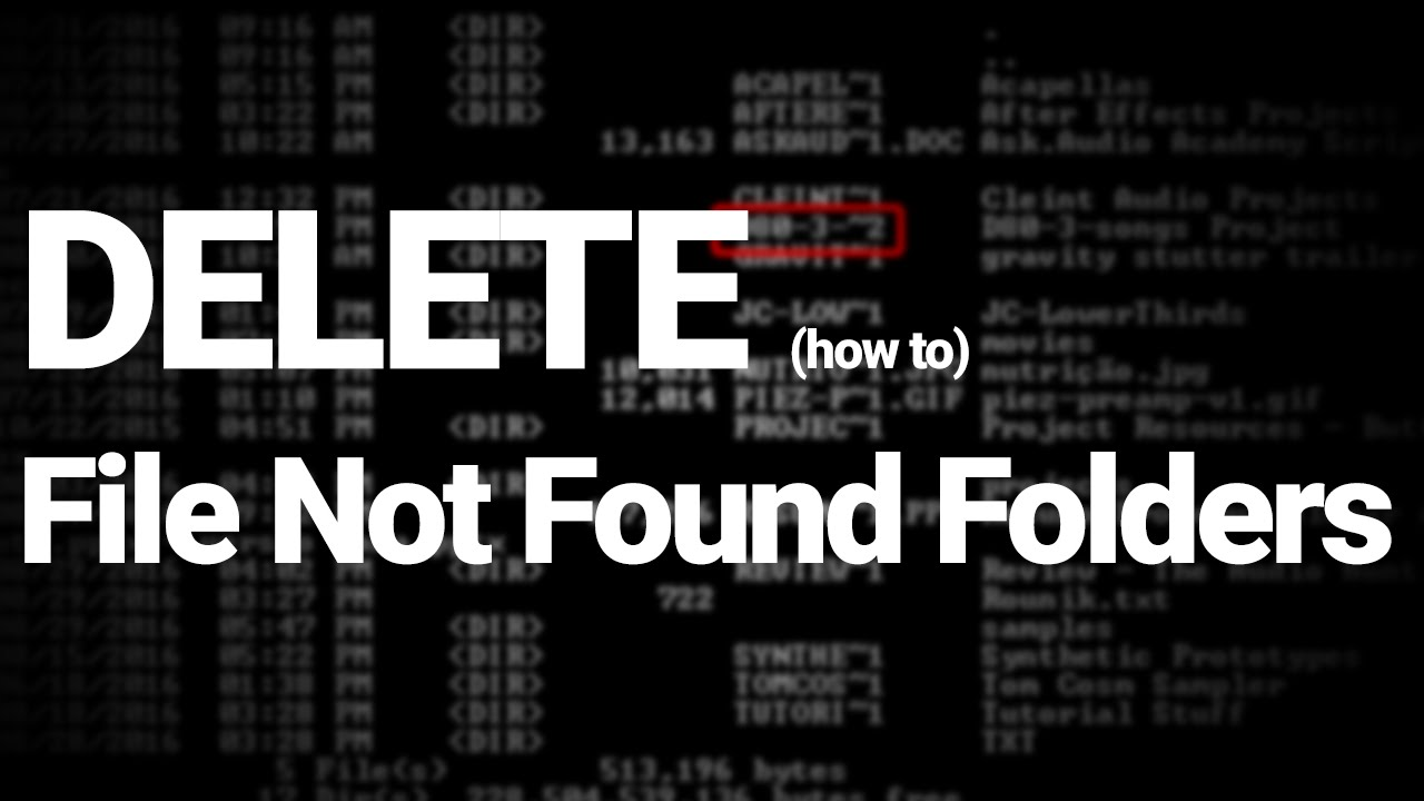 Delete Undeletable Folders (directories) via CMD - SSNC