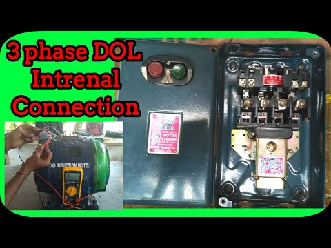 3 Phase Dol Starter Connection || Three Phase Direct on ...